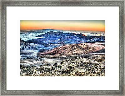 Framed Print featuring the photograph Haleakala Crater Sunset Maui by Shawn Everhart