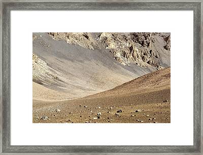 Framed Print featuring the painting Haleakala Crater Floor by Peter J Sucy