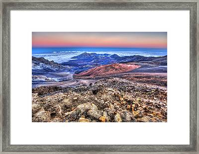 Framed Print featuring the photograph Haleakala Crater Sunset Maui II by Shawn Everhart