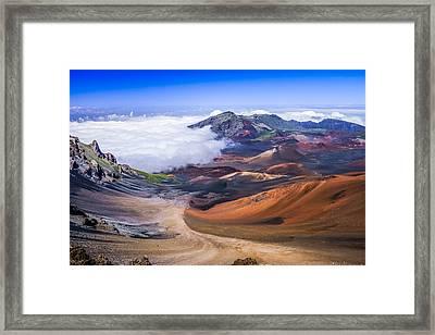 Haleakala Craters Maui Framed Print by Janis Knight