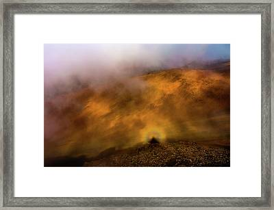 Framed Print featuring the photograph Haleakala Halo by M G Whittingham