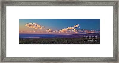 Haleakala In Sunset Clouds Framed Print