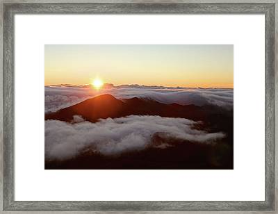 Framed Print featuring the photograph Haleakala by Lucian Capellaro