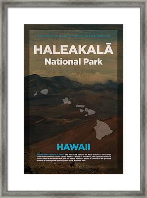 Haleakala National Park In Hawaii Travel Poster Series Of National Parks Number 29 Framed Print