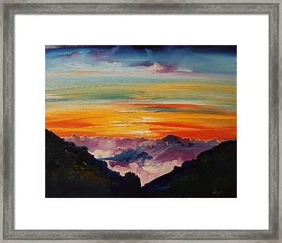 Haleakala Volcano Sunrise In Maui      101 Framed Print