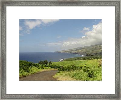 Haleakala's Dry Slope, East Maui Framed Print by Feva Fotos