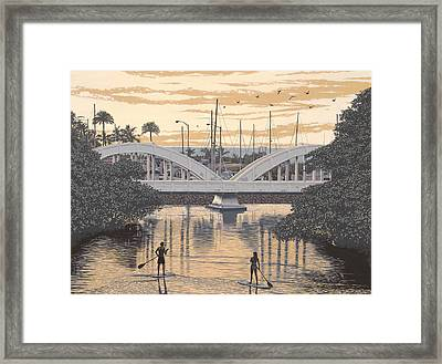 Haleiwa Bridge Framed Print by Andrew Palmer