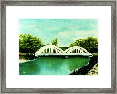 Haleiwa Bridge North Shore Oahu Hawaii #95 Framed Print by Donald k Hall
