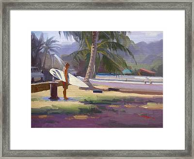 Haleiwa Epilogue Framed Print by Richard Robinson