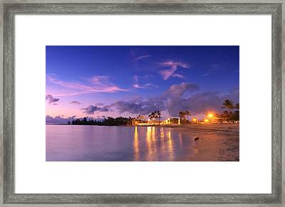 Hale'iwa Evening Framed Print