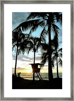 Haleiwa Sunset Framed Print by Kevin Munro