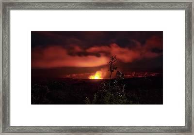 Halemaumau Crater Framed Print