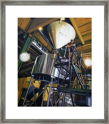 Hales Ales  Composition In Secondary Color Framed Print by Gregg Hinlicky