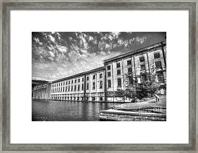 Hales Bar Dam B W Tennessee Valley Authority Tennessee River Art Framed Print
