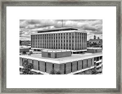 Haley Center In Black And White Framed Print by JC Findley