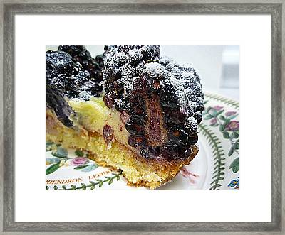 Half A Blackberry Tart Framed Print by Renee Trenholm