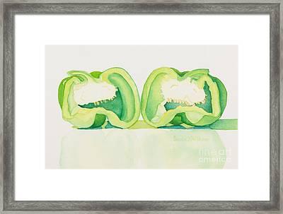 Half And Half Framed Print