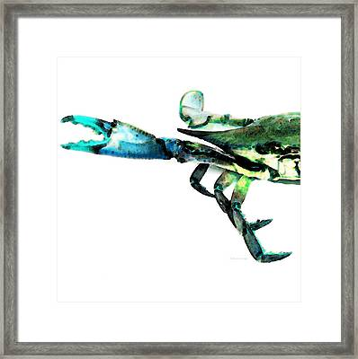 Half Crab - The Left Side Framed Print by Sharon Cummings