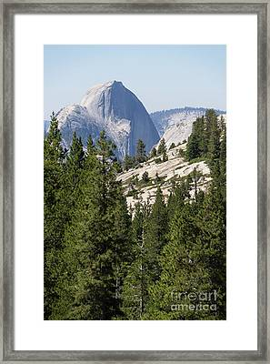 Half Dome And Yosemite Valley From Olmsted Point Tioga Pass Yosemite California Dsc04236 Framed Print