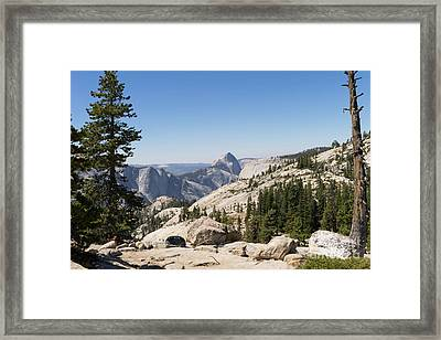 Half Dome And Yosemite Valley From Olmsted Point Tioga Pass Yosemite California Dsc04245 Framed Print