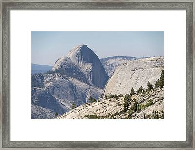 Half Dome And Yosemite Valley From Olmsted Point Tioga Pass Yosemite California Dsc04246 Framed Print by Wingsdomain Art and Photography
