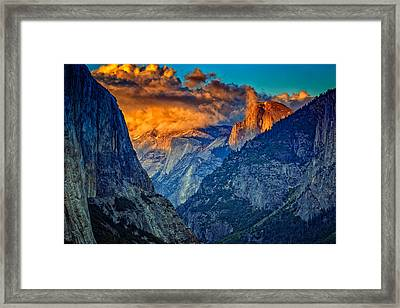Half Dome At Sunset Framed Print by Rick Berk