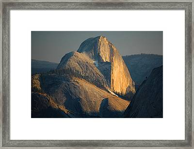 Half Dome At Sunset - Yosemite Framed Print by Stephen  Vecchiotti