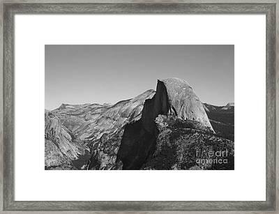 Half Dome From Glacier Point Framed Print by Richard Verkuyl