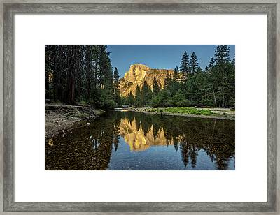 Half Dome From  The Merced Framed Print