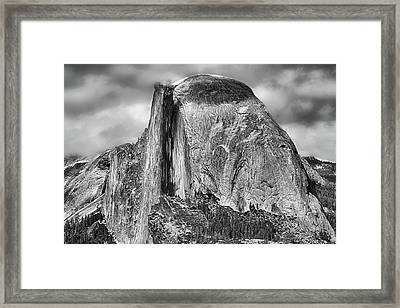 Half Dome In Black And White Framed Print
