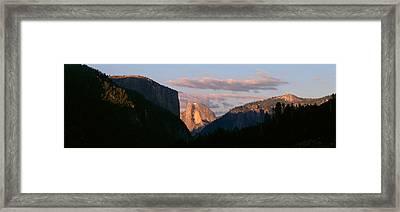 Half Dome Mountain At Sunset, Yosemite Framed Print