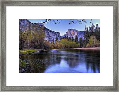 Half Dome Near Sunset Framed Print
