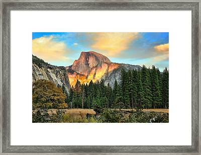 Half Dome Sunset Framed Print by Chuck Kuhn