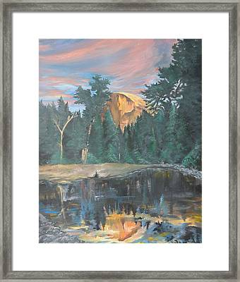Half Dome Sunset Framed Print by Travis Day