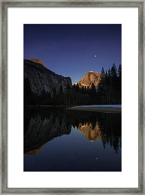 Half Dome, Twilight Framed Print