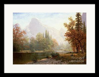 Half Dome Paintings Framed Prints