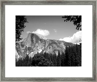 Half Dome Yosemite B And W Framed Print