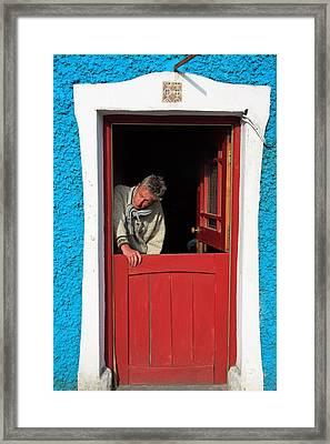 Half Door Framed Print by Aidan Moran