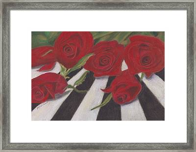 Framed Print featuring the painting Half Dozen Red by Arlene Crafton