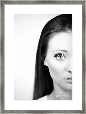 Half Face Framed Print by Amanda Elwell