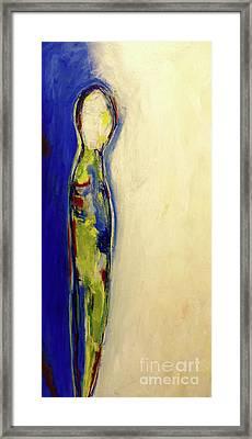 Half Man Half Blue Framed Print