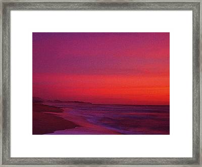Half Moon Bay Sunset Framed Print by Vicky Brago-Mitchell