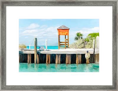 Half Moon Cay Framed Print