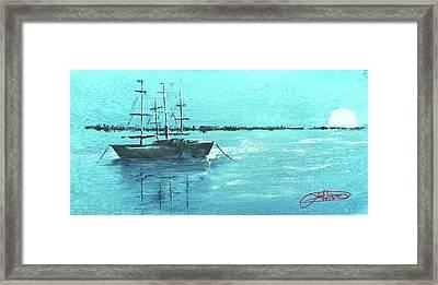 Half Moon Harbor Framed Print