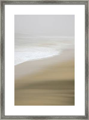 Framed Print featuring the photograph Half Moon Bay - Impressions by Francesco Emanuele Carucci