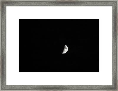 Half Moon Framed Print by Mark Russell