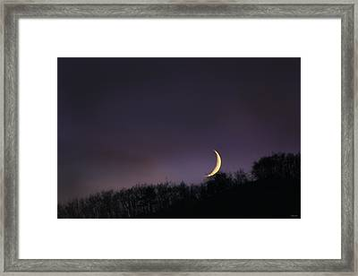 Framed Print featuring the photograph Half Moon by Martina  Rathgens