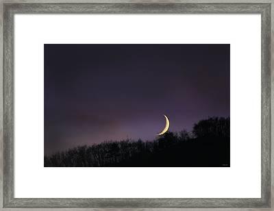 Half Moon Framed Print by Martina  Rathgens