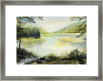 Half Moon Pond Framed Print