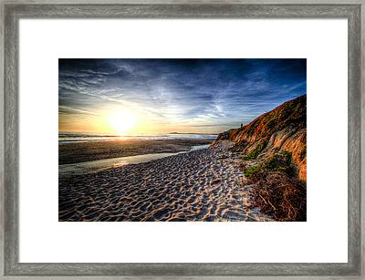 Half Moon Sunset Framed Print by Subhadip Ghosh